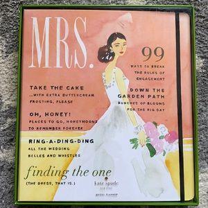 NEW Kate Spade Mrs. Magazine Bridal Planner